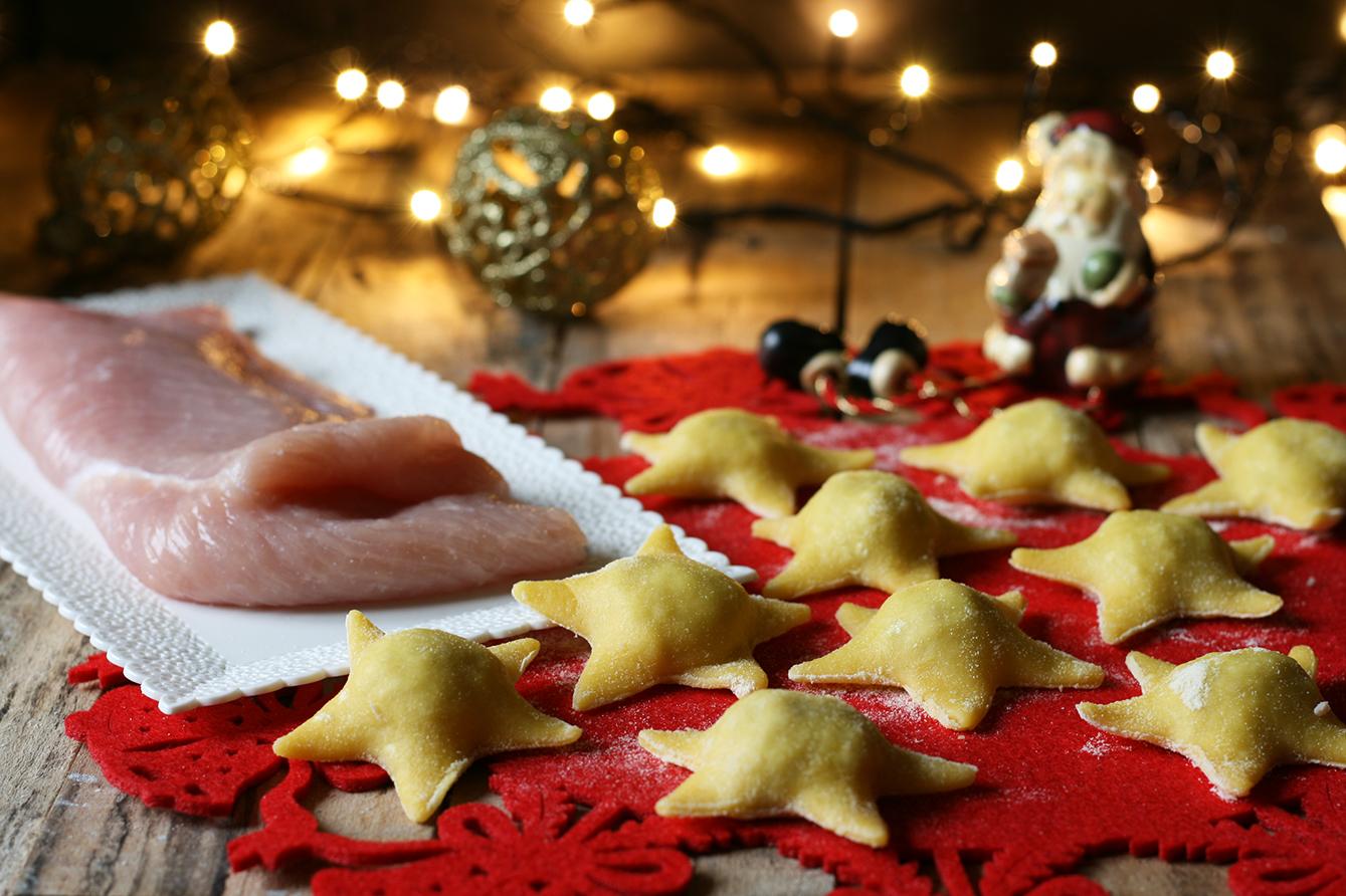 Ravioli tacchino e castagne - ricetta natalizia