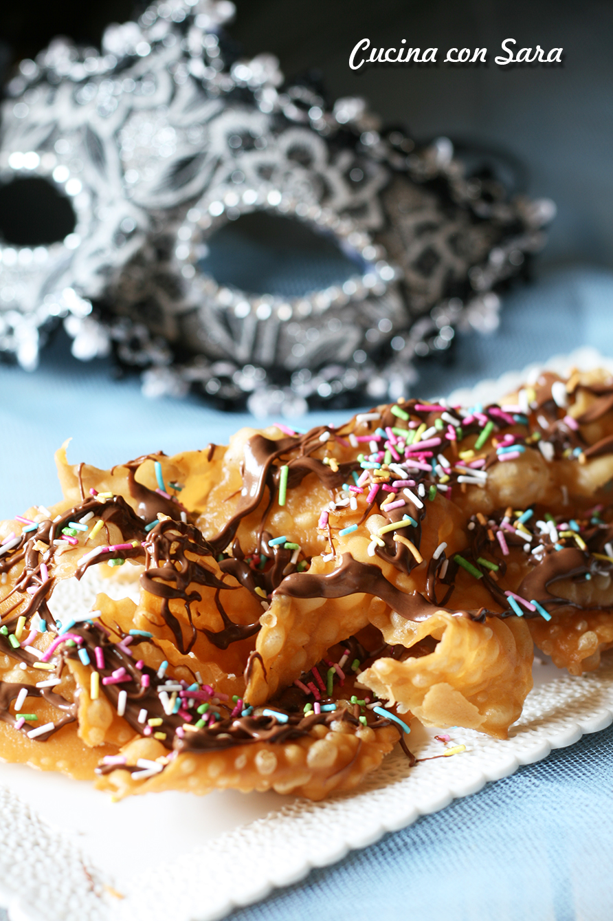 Nastri fritti di carnevale alla nutella, cucina con sara