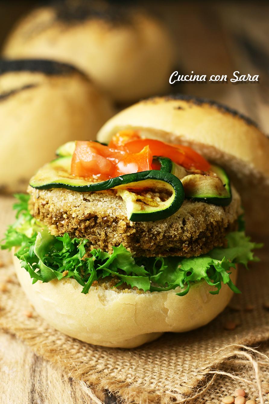 Ricetta veggie burger di lenticchie, cucina con sara