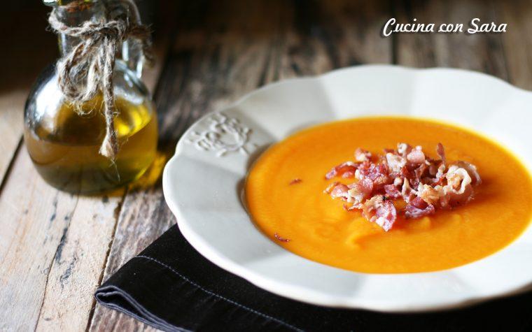 Vellutata di carote con bacon croccante – gustosissima!