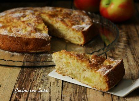 Torta di mele light - ricetta SENZA BURRO, SENZA LATTE, SENZA UOVA