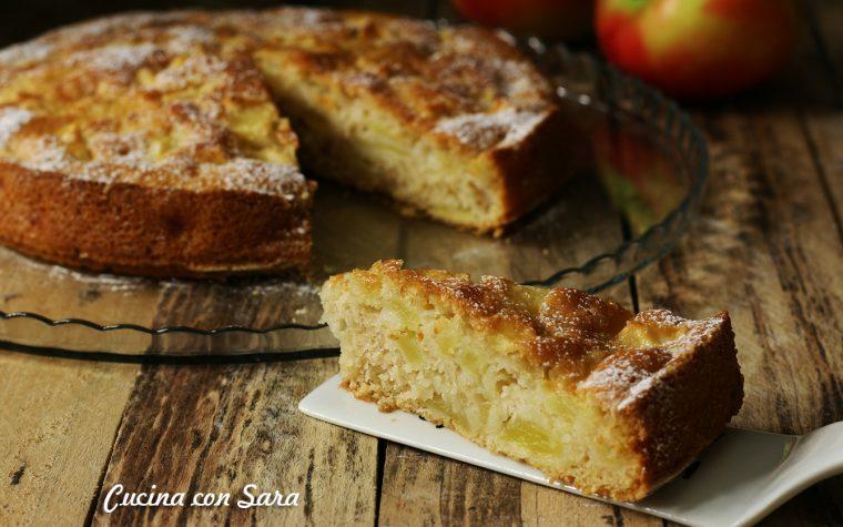 Torta di mele light – ricetta SENZA BURRO, SENZA LATTE, SENZA UOVA