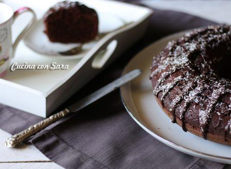 Ciambella al cacao e cocco senza burro