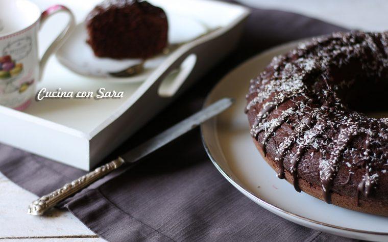 Ciambella al cacao e cocco senza burro – buona e leggera