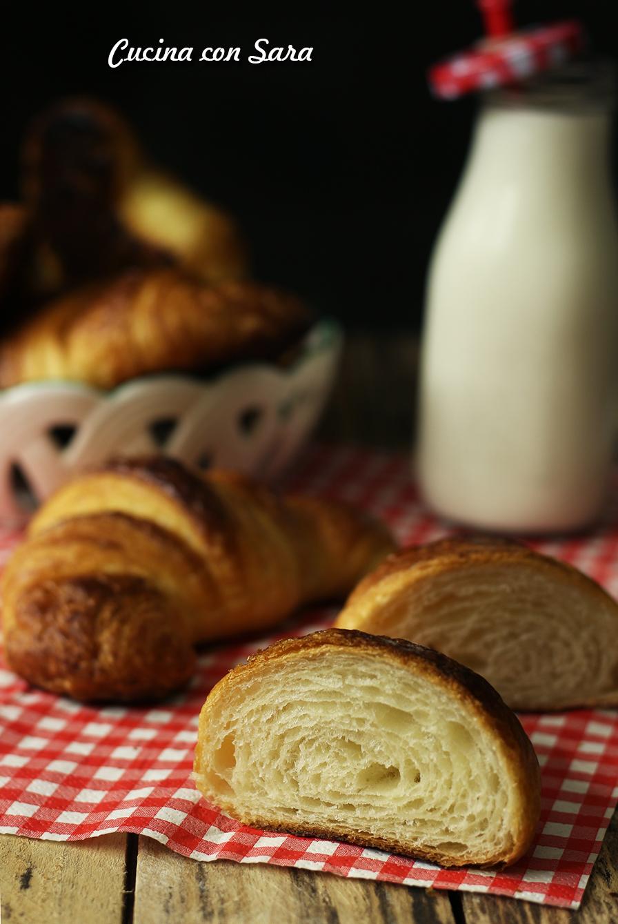 Croissant sfogliati, cucina con sara