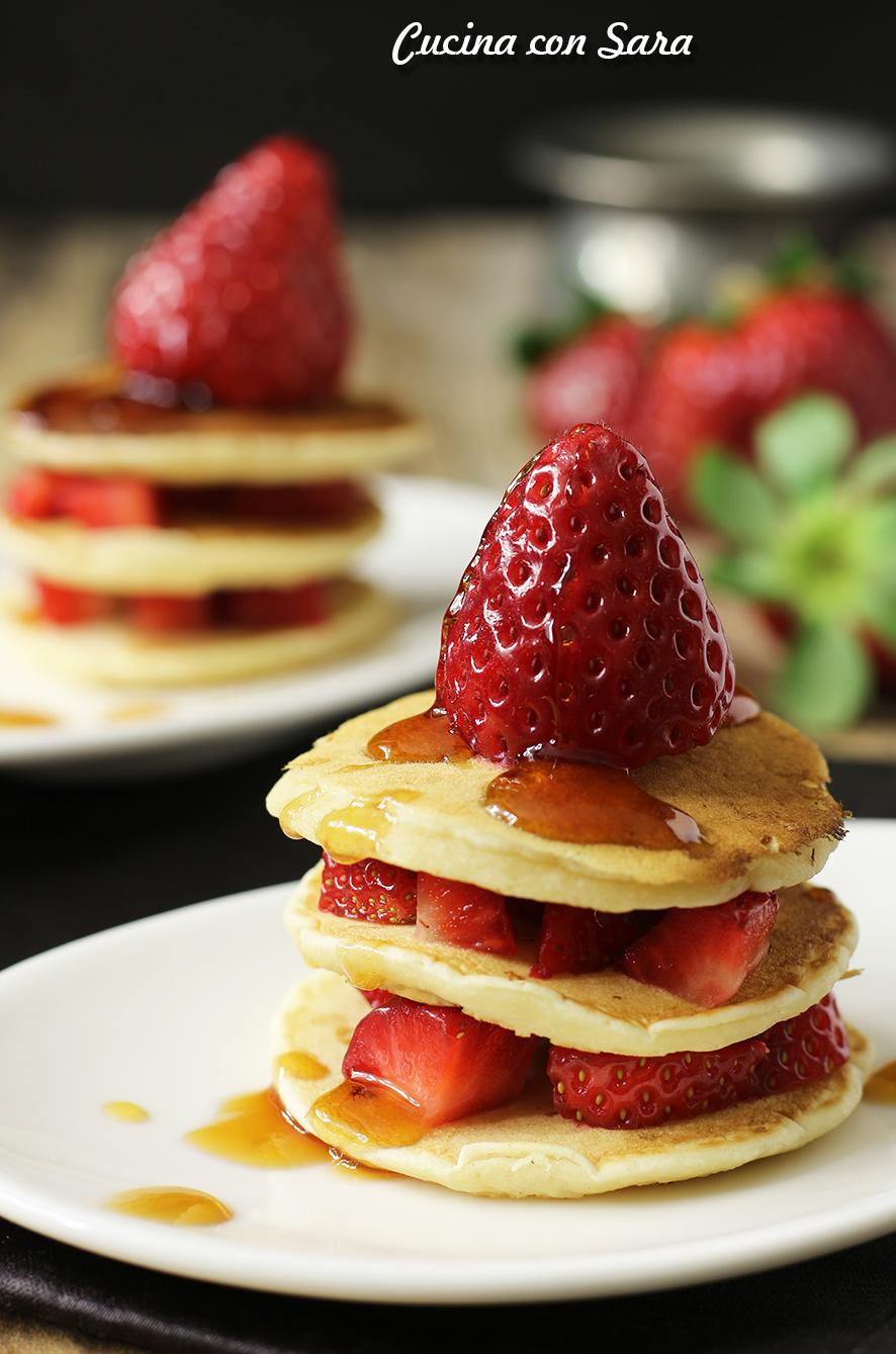 pancakes light, cucina con sara