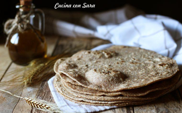 Ricetta piadina integrale fatta in casa – con olio, senza strutto
