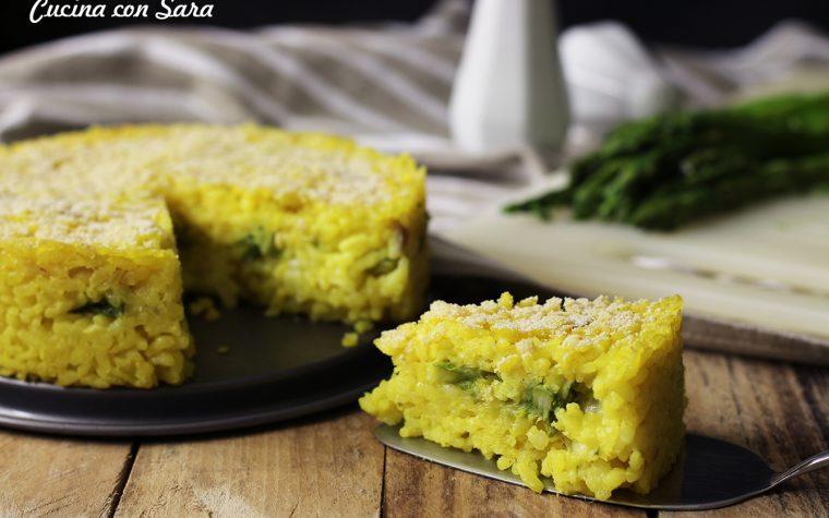 Ricetta torta di riso con asparagi e mozzarella