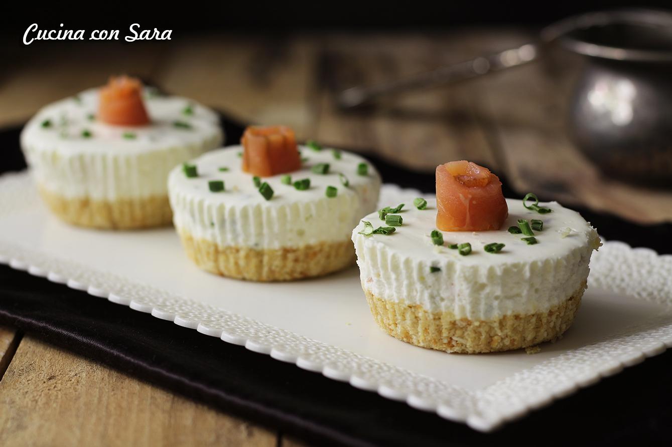 Cheesecake salata, cucina con sara