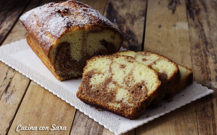 Plumcake variegato alla nocciolata – con video ricetta