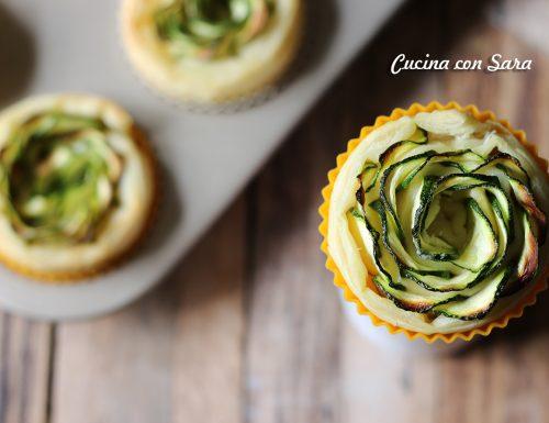 Rose di zucchine e formaggio cremoso – con video ricetta