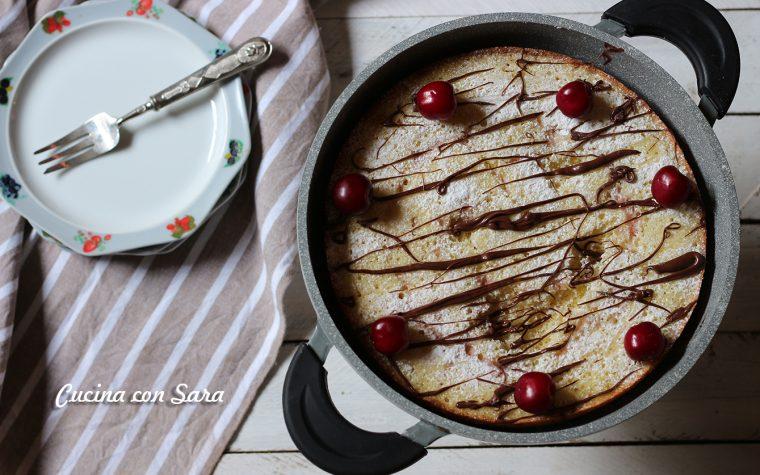 Torta di ciliegie in padella – ricetta senza burro