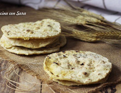 Sfoglie di pane senza lievito e senza olio
