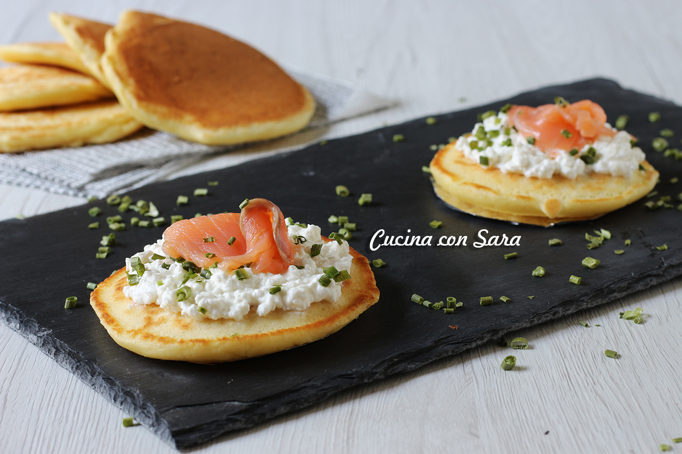 pancakes salati, cucina con sara