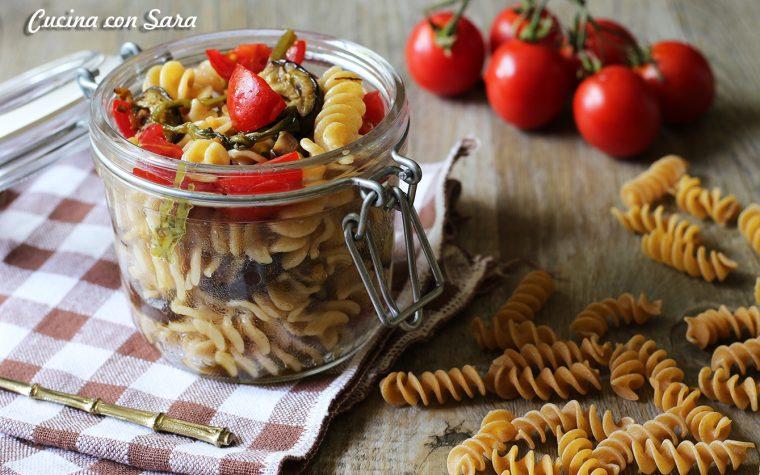 Insalata di pasta vegetariana – ricetta in vasetto