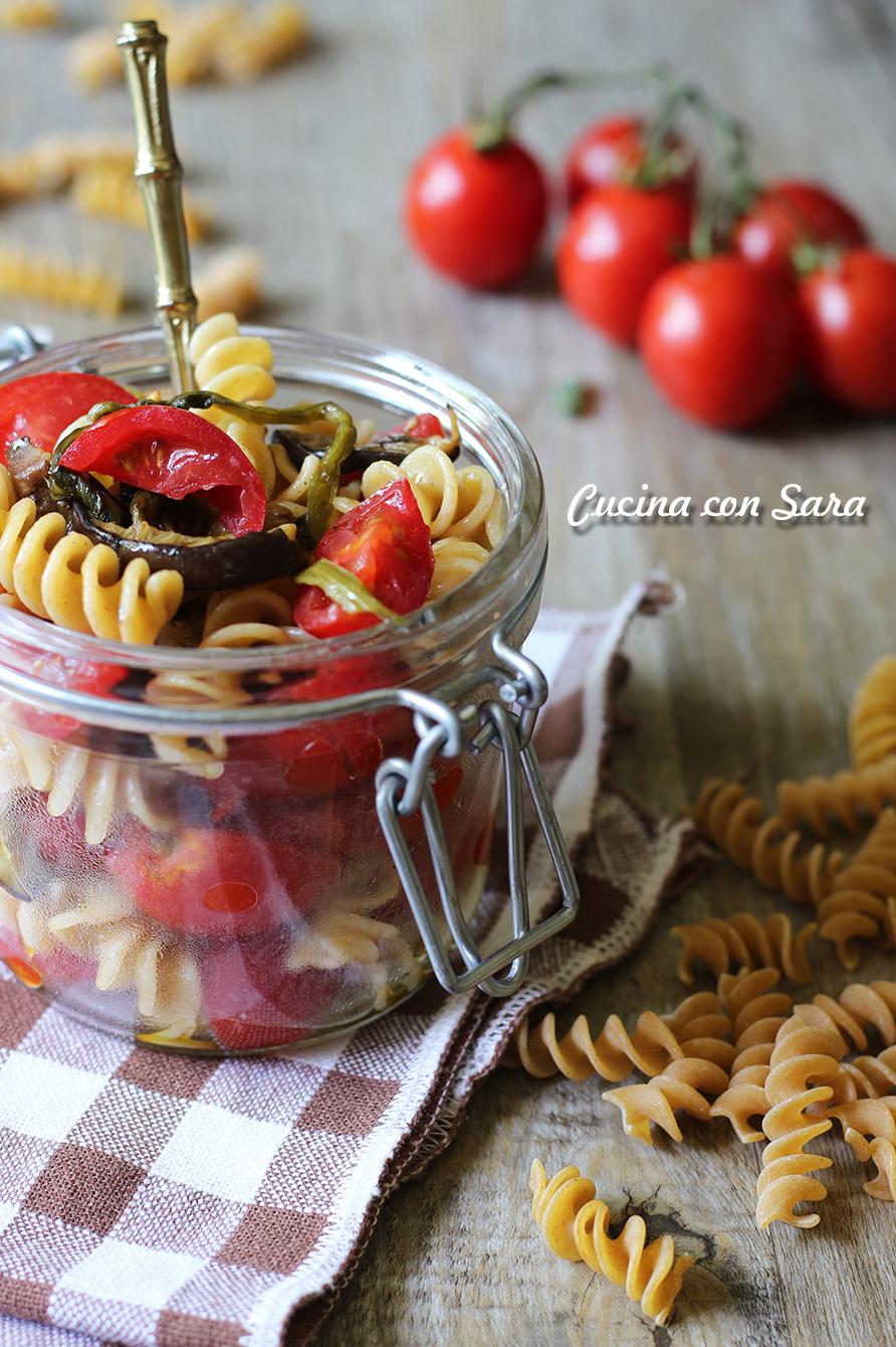 insalata di pasta vegetariana, cucina con sara