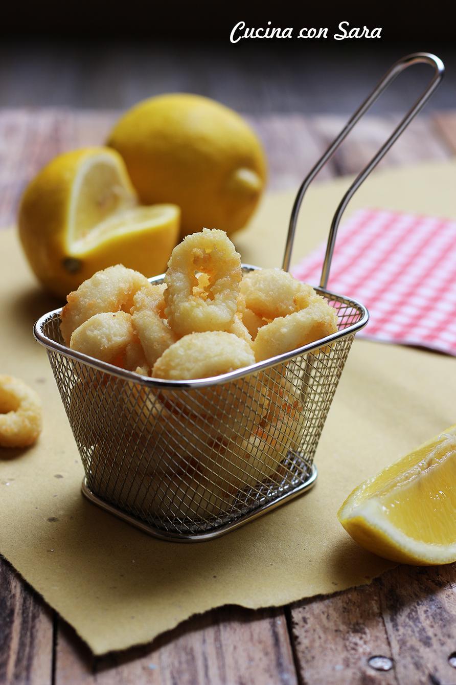 Calamari fritti, cucina con sara