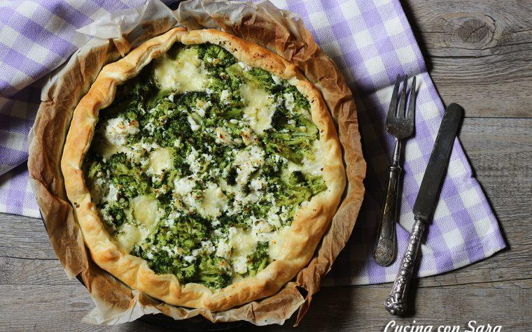 Sfoglia broccoli e ricotta, senza uova