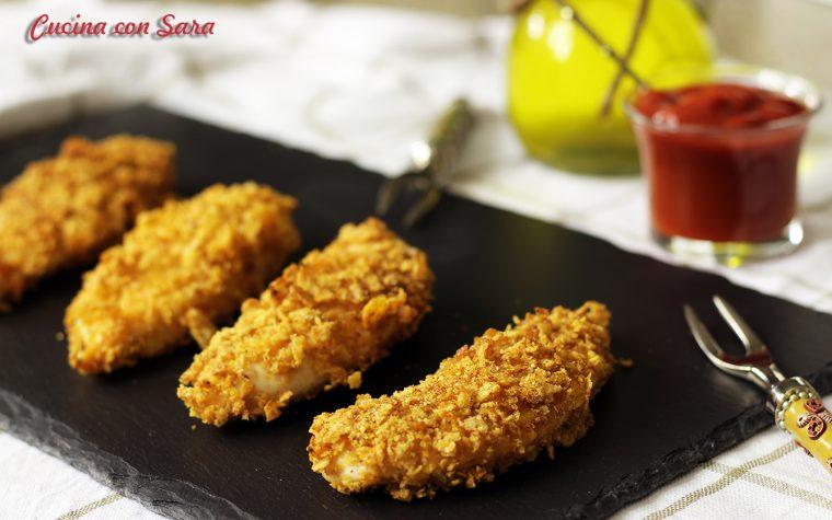 Cotolette di pollo con corn flakes e cous cous tostato
