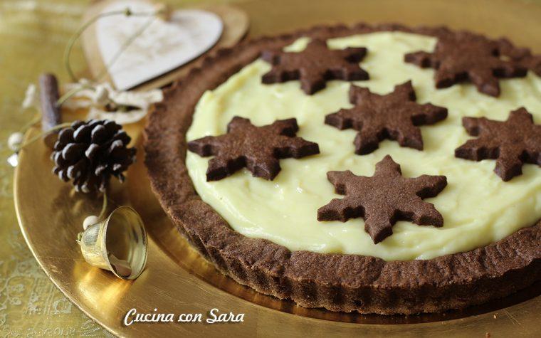 Crostata al cacao e crema pasticcera