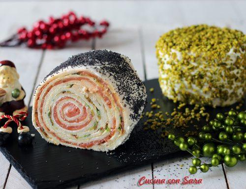 Rotolo salmone e zucchine senza cottura