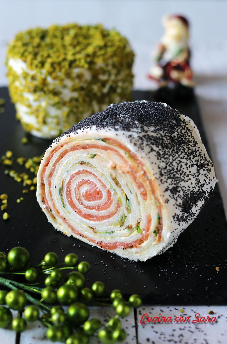 Rotolo salmone e zucchine, cucina con sara