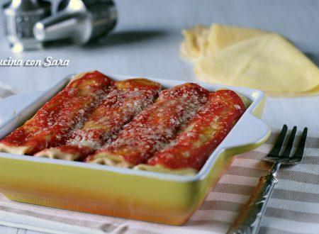 Cannelloni di crespelle con spinaci e ricotta