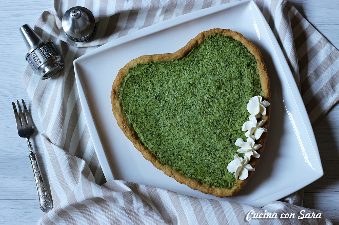 Torta salata a forma di cuore, cucina con sara
