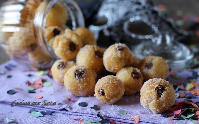 Castagnole alla nutella – senza lievitazione