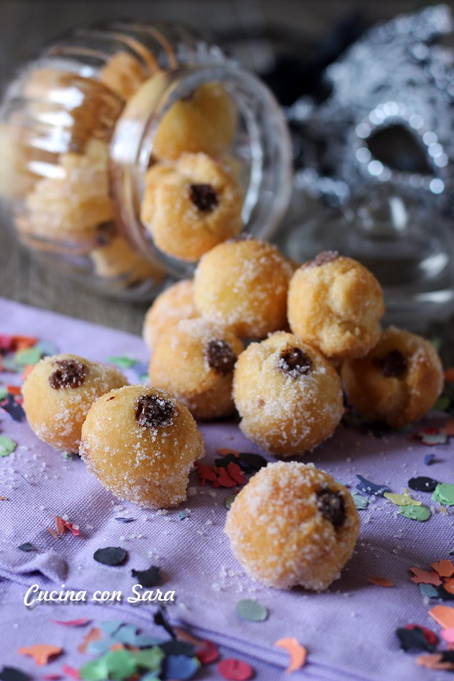 Castagnole alla nutella, cucina con sara