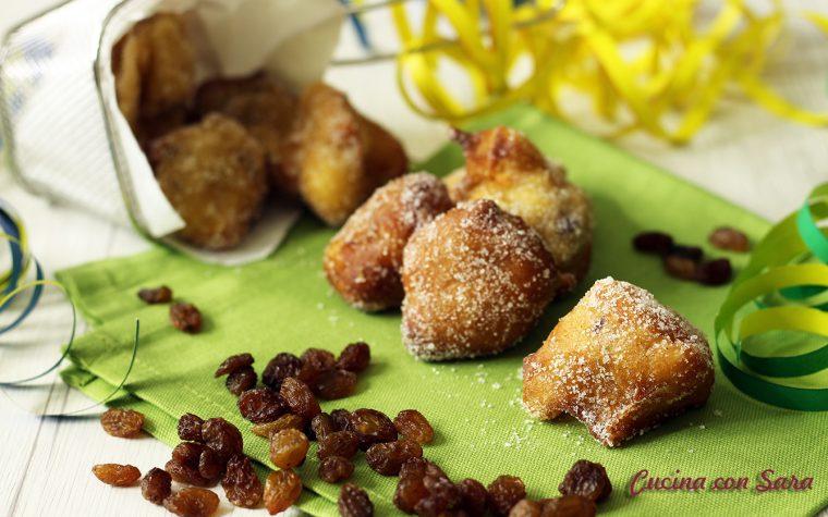 Castagnole mele e uvetta – ricetta di Sonia Peronaci