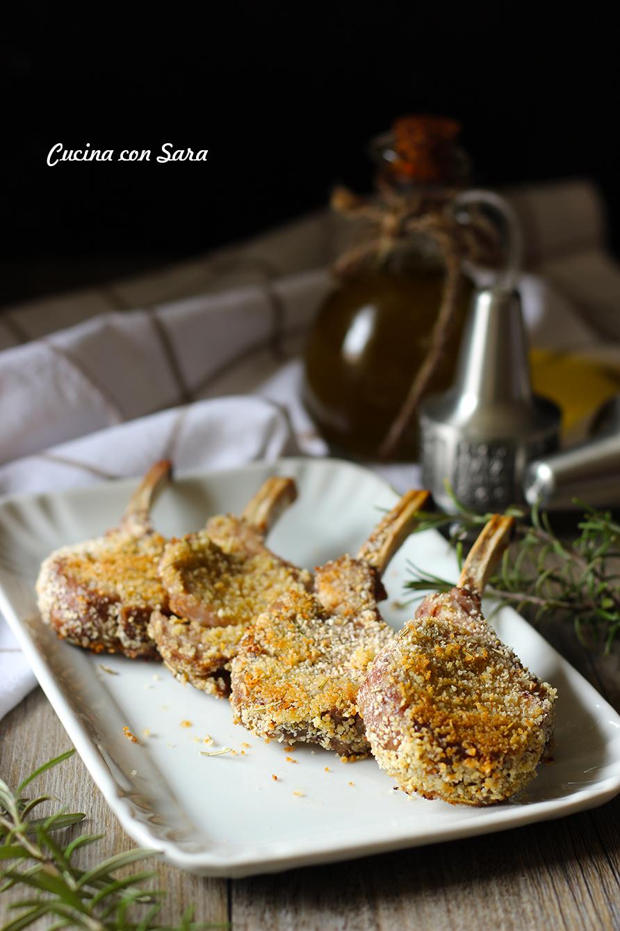 Costolette di agnello al forno, cucina con sara