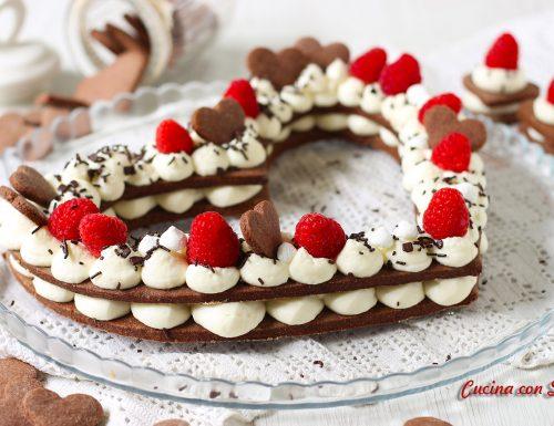 Cream tart a cuore