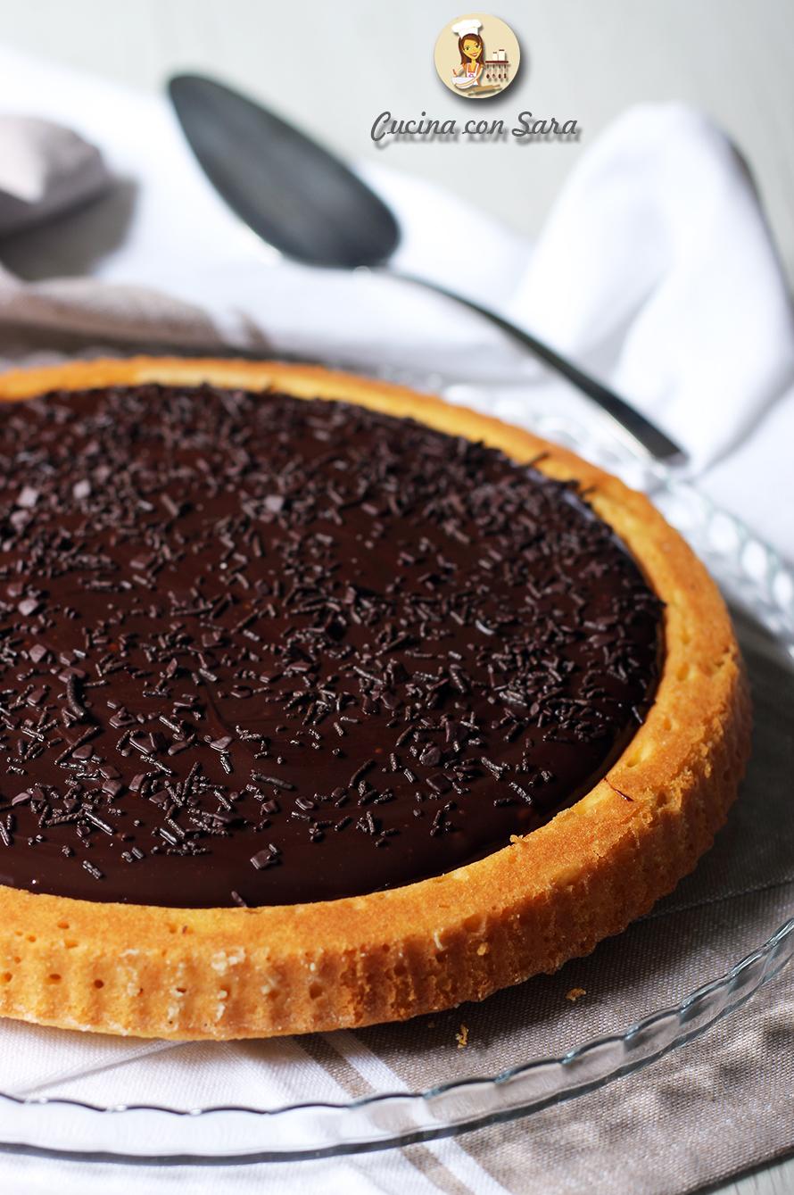 Crostata morbida al cioccolato, cucina con sara