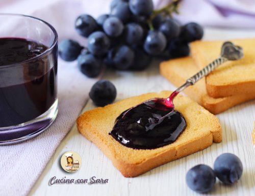 Confettura di uva fragola – senza pectina