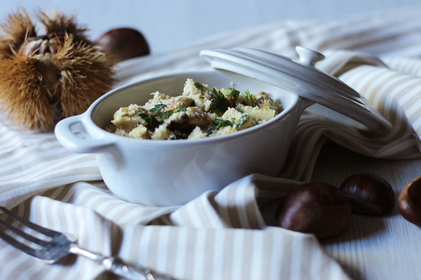 Cous cous funghi e castagne. cucina con sara
