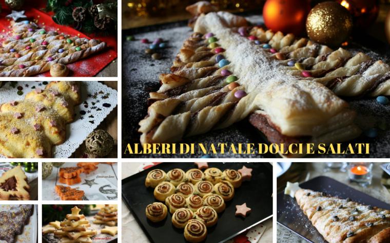 Alberi di Natale dolci e salati