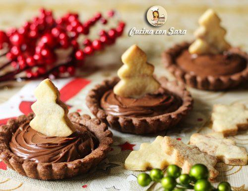 Crostatine natalizie alla nutella