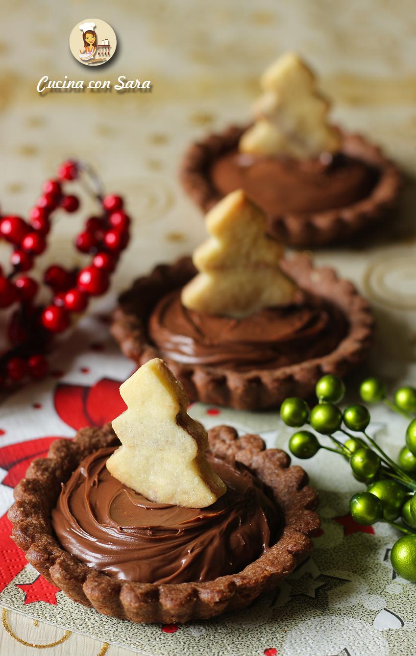 Crostatine natalizie alla nutella, cucina con sara