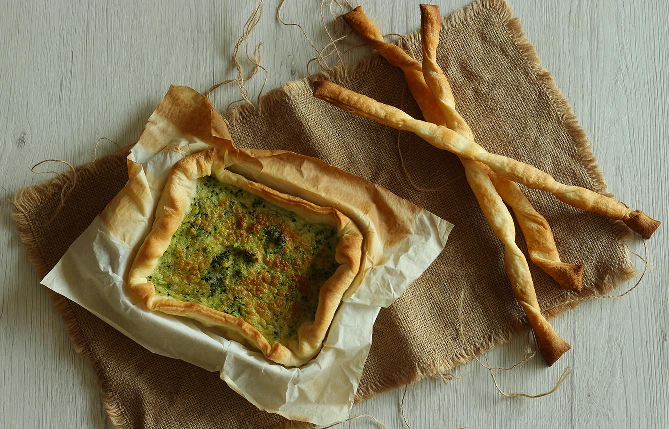 Ricetta quiche broccoli e formaggio, cucina con sara