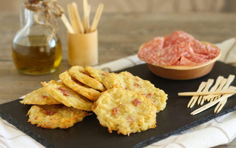 Frittelle di patate e salame al forno