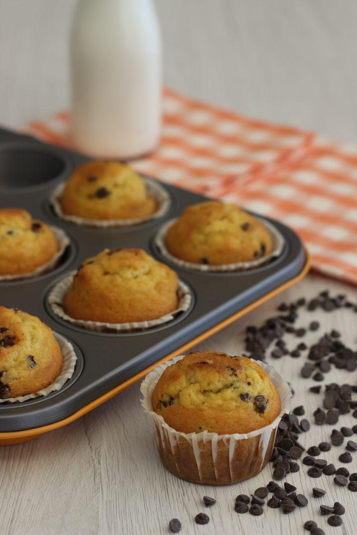 Muffin gluten free con gocce di cioccolato, cucina con sara