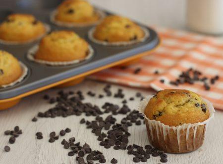 Muffin gluten free con gocce di cioccolato
