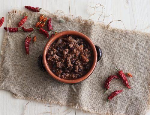Chili con fagioli neri – ricetta messicana