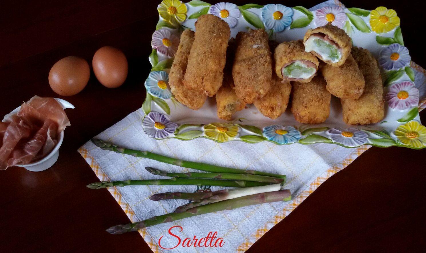 Involtini di asparagi impanati cucina con saretta - Inulina in cucina ...