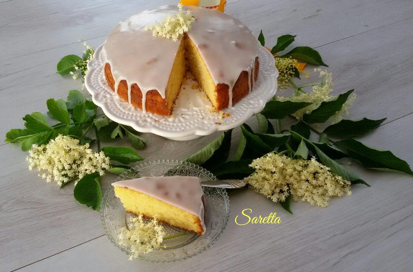 torta al limone con sciroppo ai fiori di sambuco