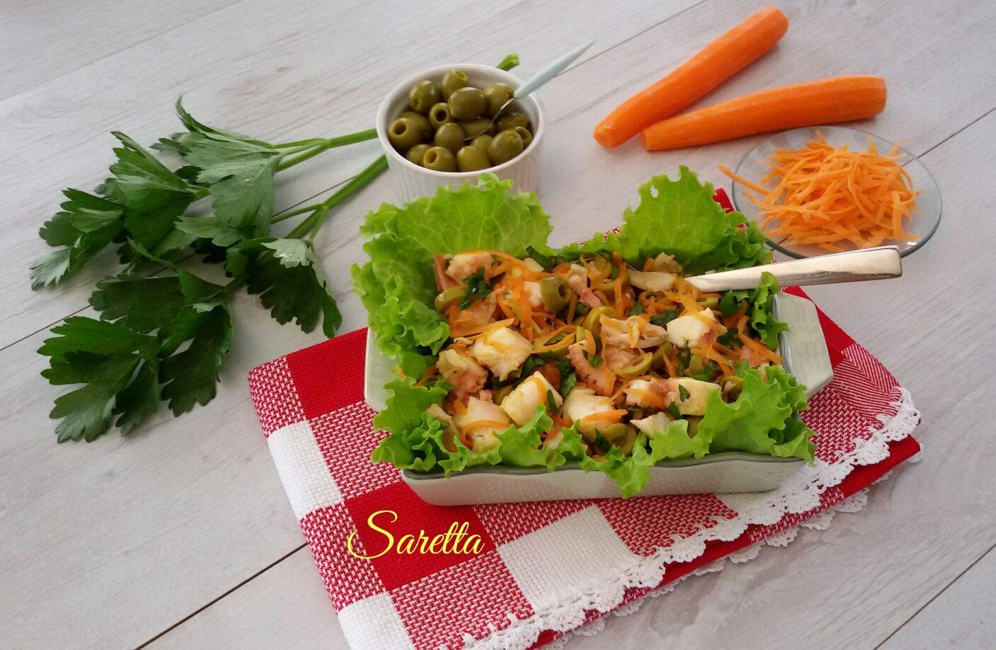 insalata di polpo al limone sedano e olive