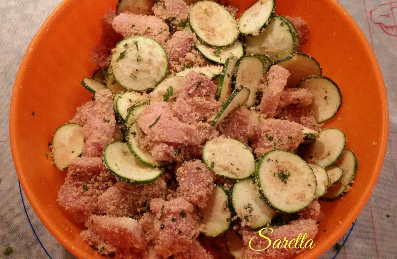 petti di pollo con zucchine e speck