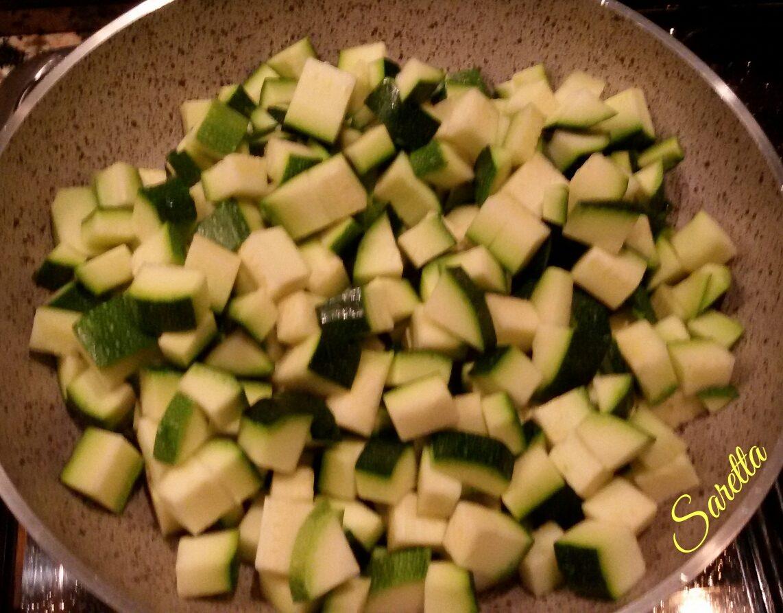 tartine zucchine e gamberetti