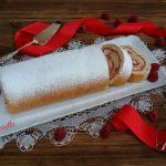 Rotolo di zabaione allo spumante, pinoli e lamponi di Clelia – Bake Off Italia 2017